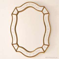 gold mirror beaded etched ornate