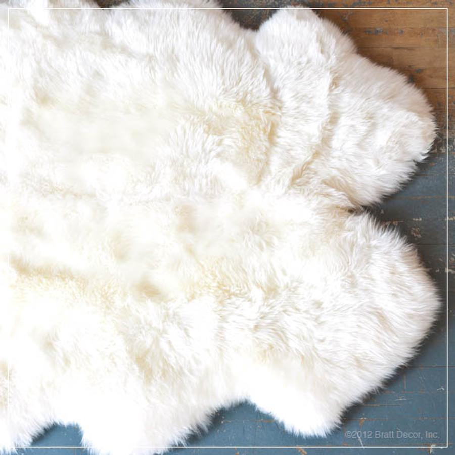sheep skin fur rugs ivory