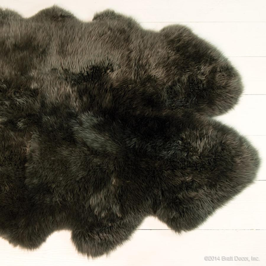 sheep skin fur rugs slate