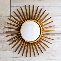 sunray starburst mirrors gold
