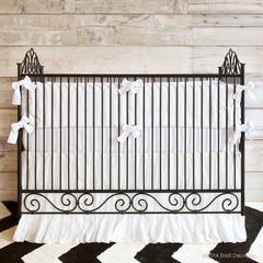 wrought iron cribs vintage metal
