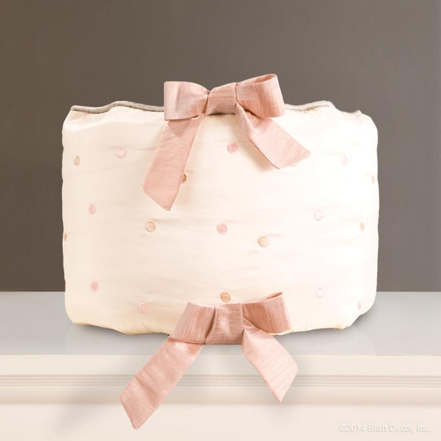 faux silk pink cream ivory