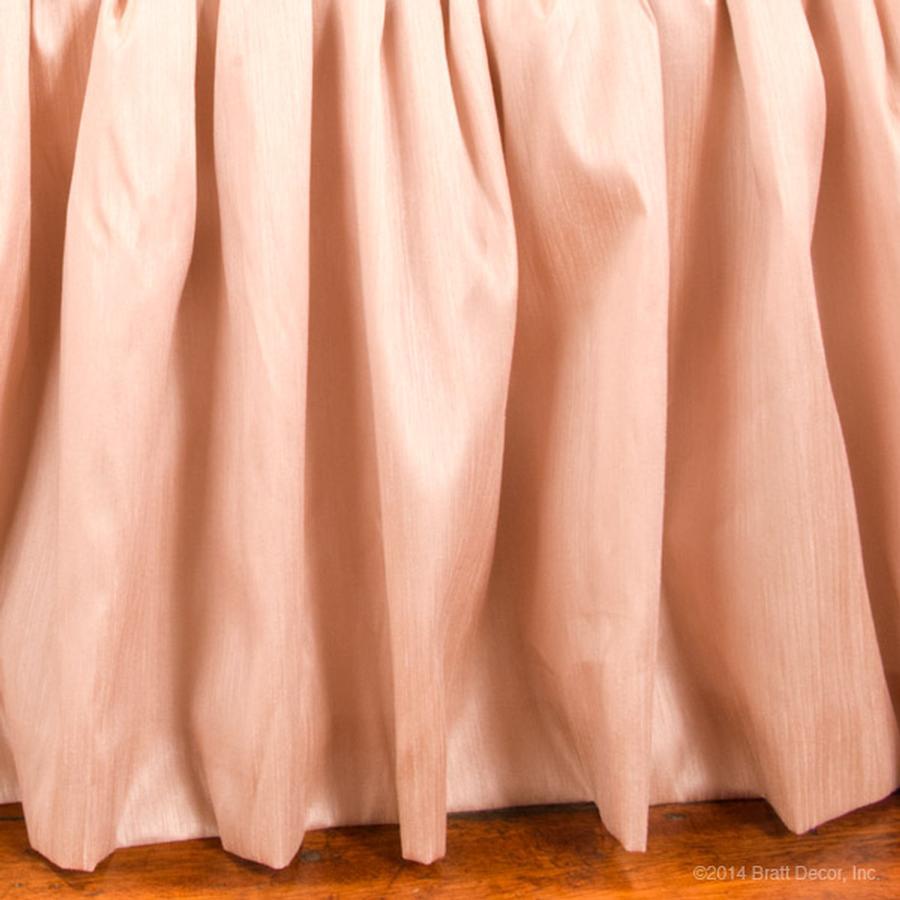 blush faux silk pink girl