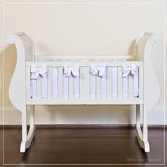 hand-carved wood wooden bassinet cradles