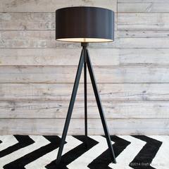 black wood lamps light lights