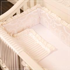 cream ivory silk baroque damask