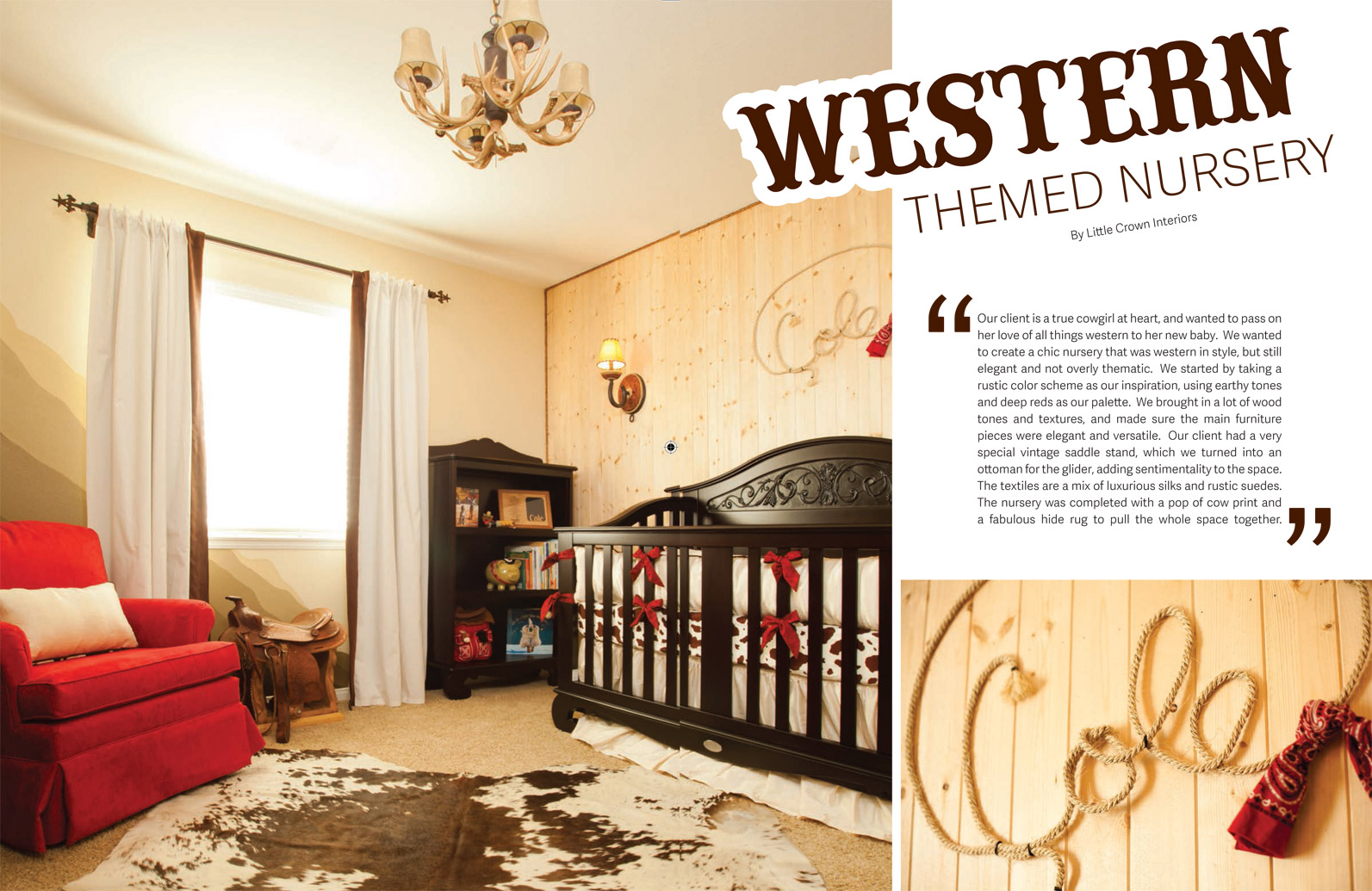 Bratt Decor Western Themed Nursery in Tattle Magazine
