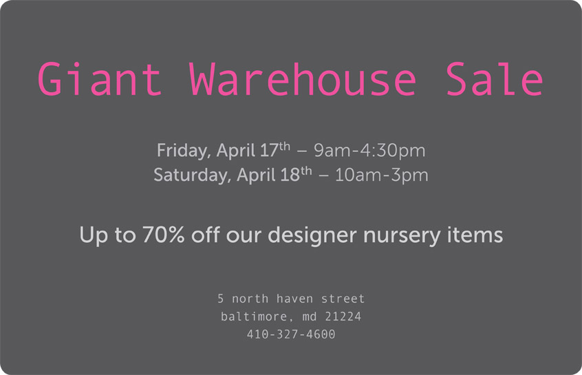 BRATT DECORS GIANT ANNUAL WAREHOUSE SALE: FRIDAY & SATURDAY ONLY