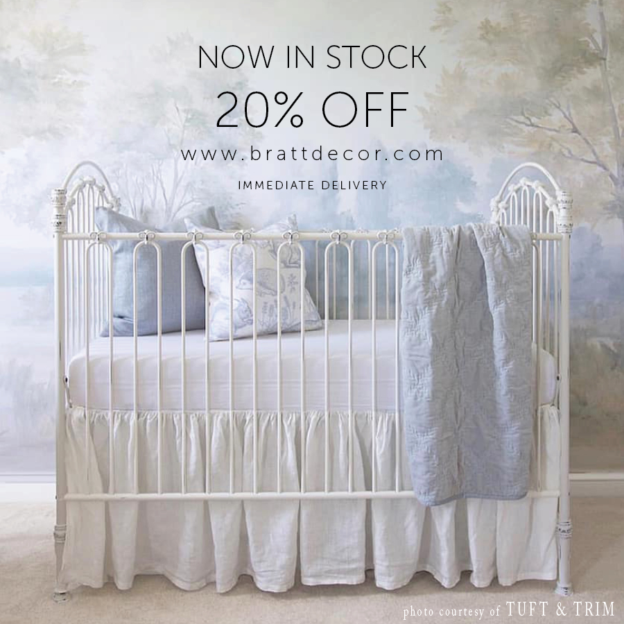 venetian II crib distressed white