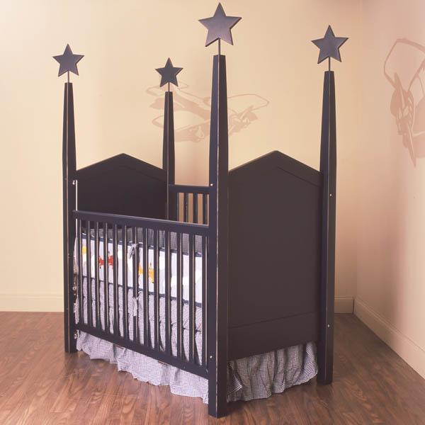 heritage visible hardware crib