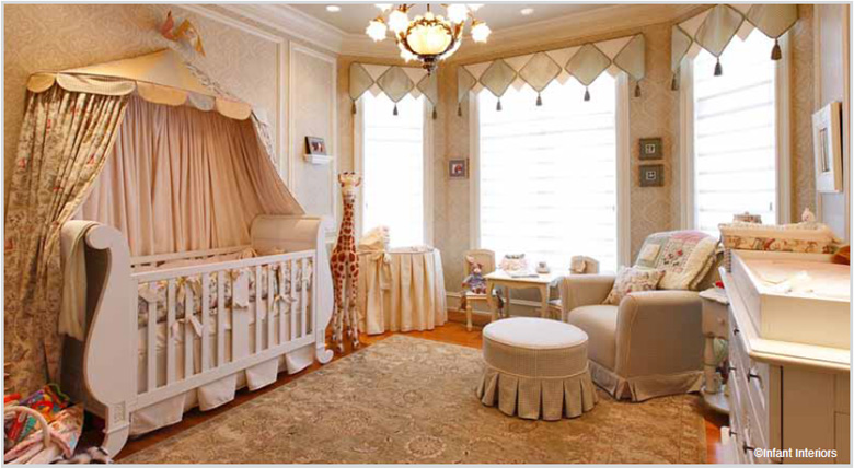 Baby crib designer nursery luxury crib - New york girls room ...
