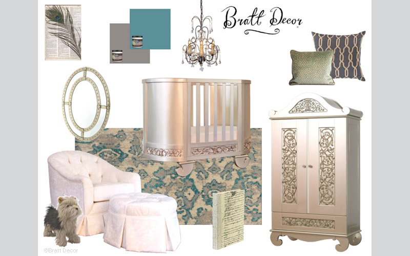 Teal Elegance Design Board