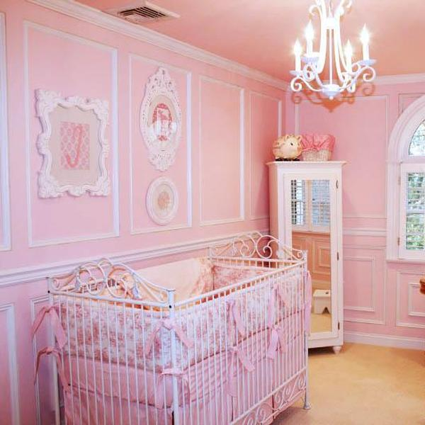 Pink Toile Shabby Chic Nursery