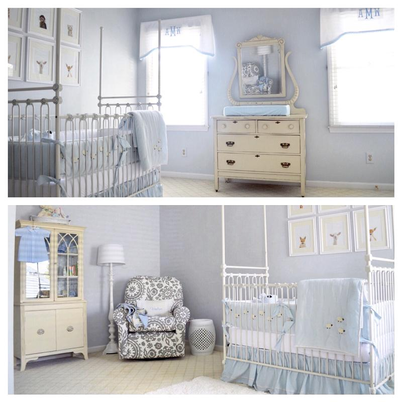 ... Waltonu0027s Nursery ...  sc 1 st  Bratt Decor & joy canopy crib distressed white