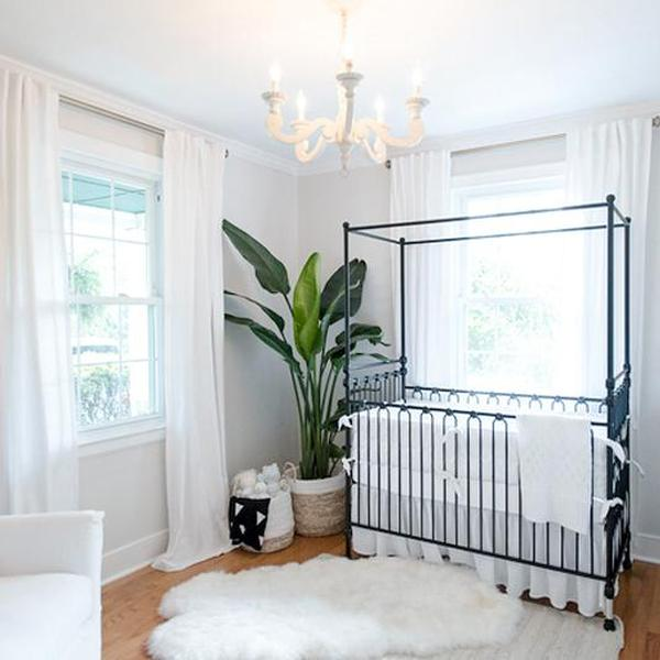 20 Extremely Lovely Neutral Nursery Room Decor Ideas That: Joy Canopy Crib Distressed Black
