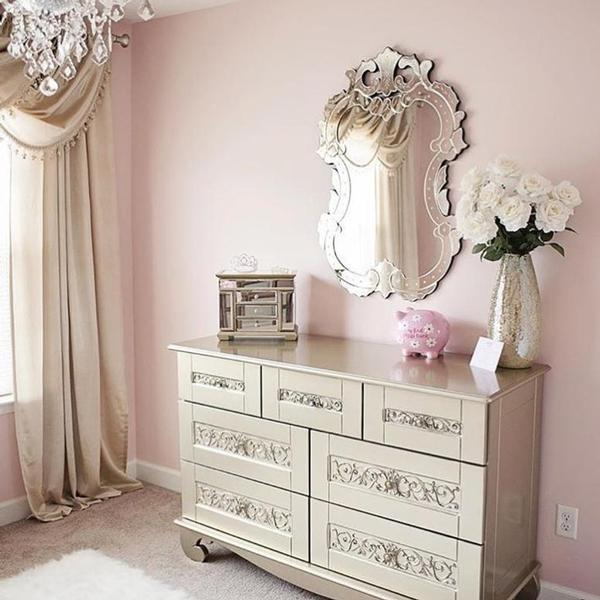 Breathtaking blush and silver