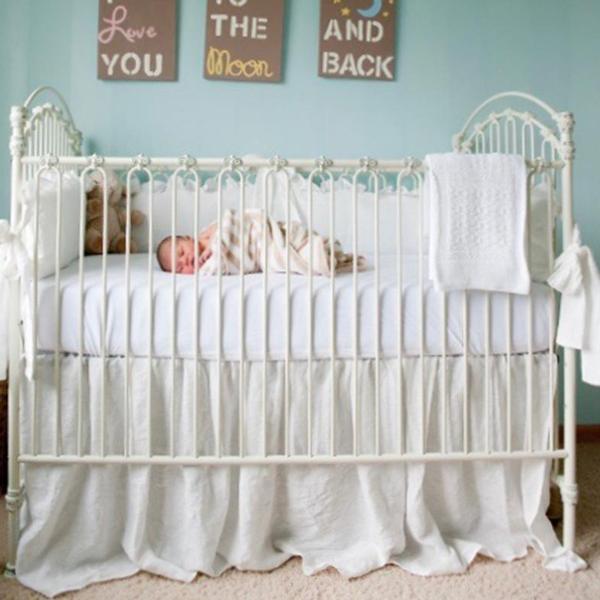 Venetian Ii Crib Distressed White