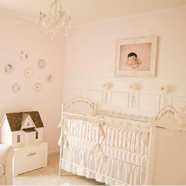 Vintage Pink and White Nursery