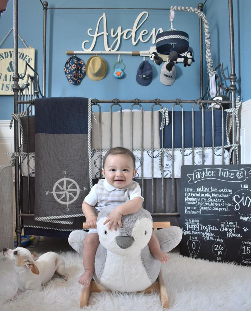 Baby Ayden's Nautical Nursery