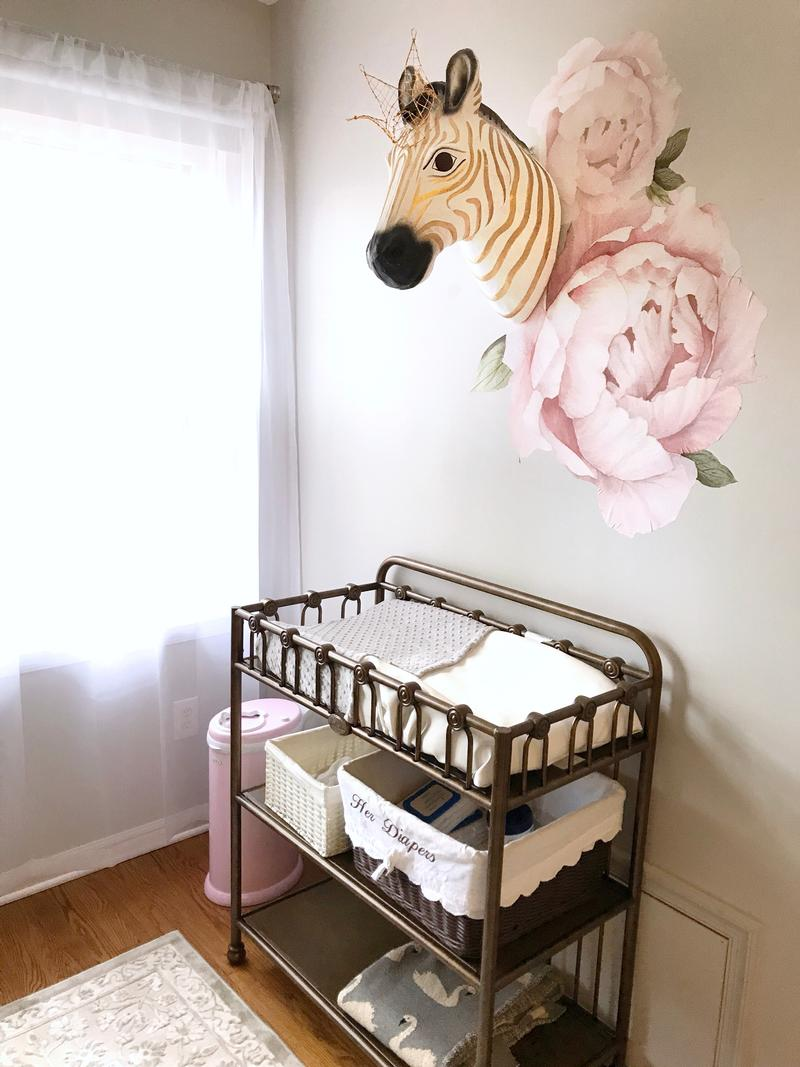Wren's Gold and Blush Nursery