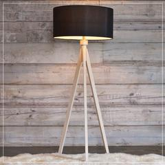 midcentury floor lamp - natural