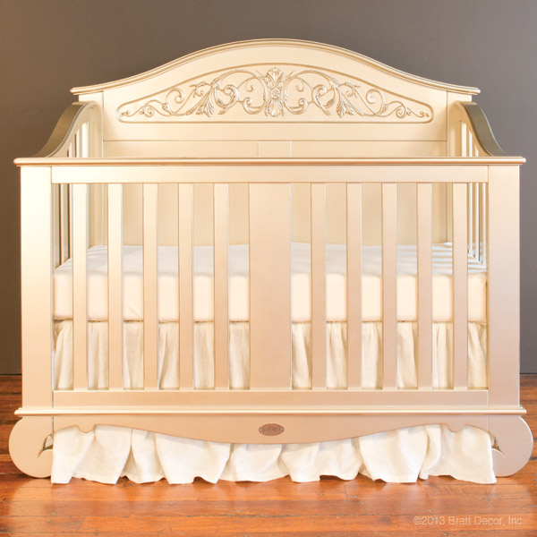 chelsea lifetime crib antique silver-old