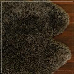 urban sheepskin rug in slate