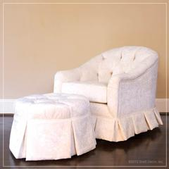 hepburn glider and ottoman in ivory