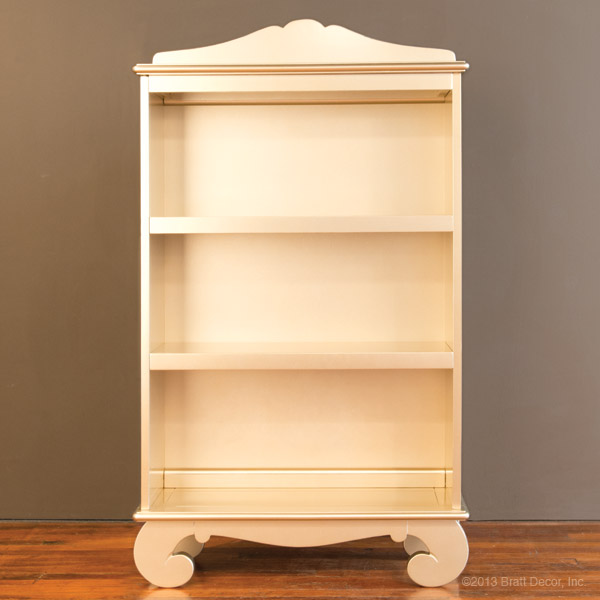 chelsea bookcase antique silver