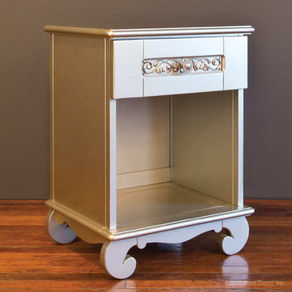 chelsea night stand ant silver