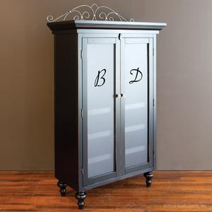 monogrammed classic armoire black