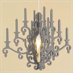 whimsy chandelier in gray