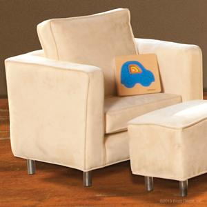 glamour toddler chair ivory