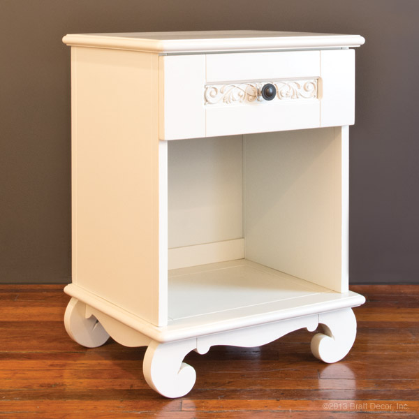 chelsea night stand white