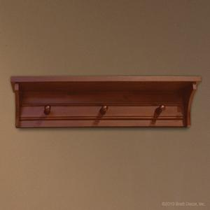 manhattan wall shelf sable wooden