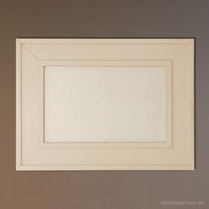 white classic mirror