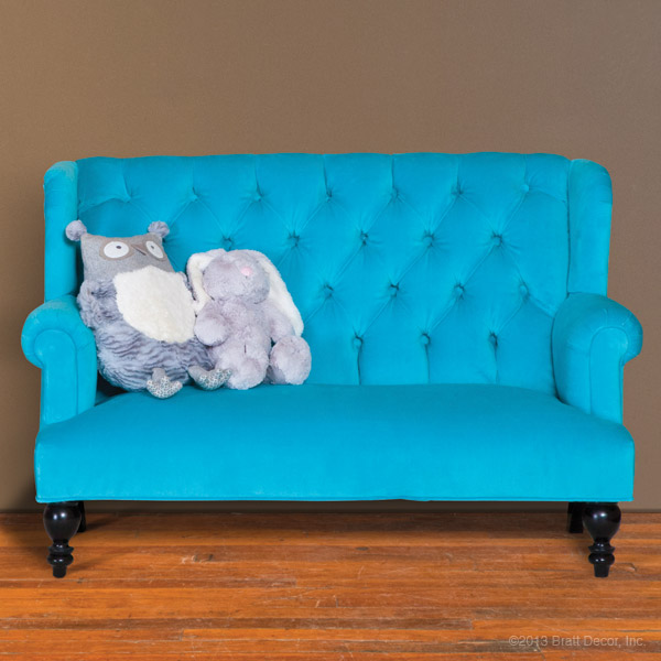 aqua children's sofa