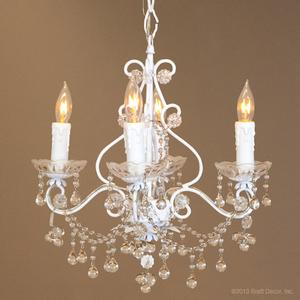paris flea market chandelier white