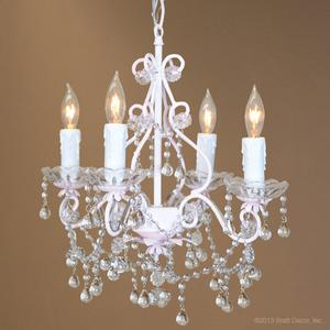paris flea market chandelier blush