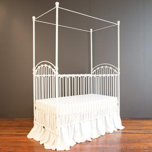 venetian crib distressed whte
