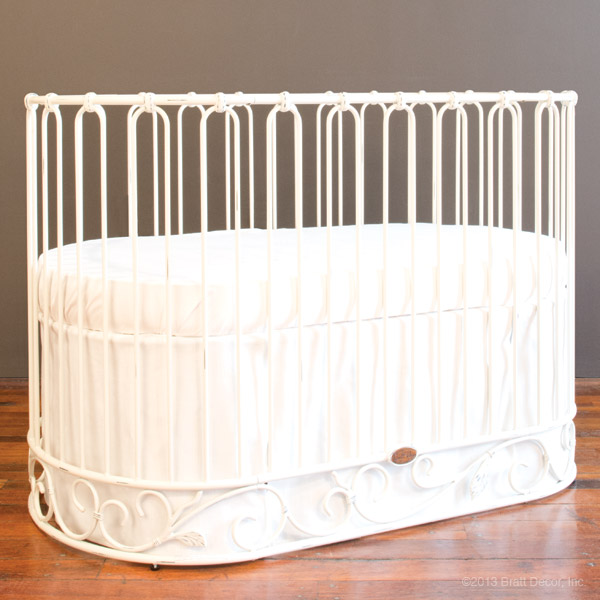 Jadore Crib Cradle Distressed White