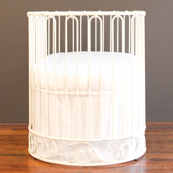 j'adore crib-cradle distressed white