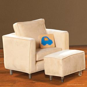 mod ivory child chair and ottoman