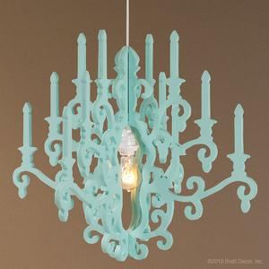 whimsy chandelier in aqua