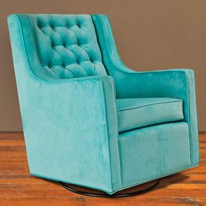 tufted glider - tiffany blue