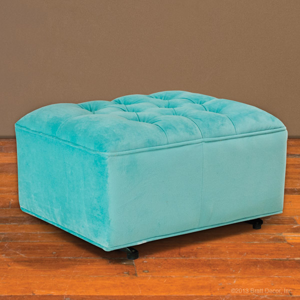 Incredible Tufted Ottoman Any Blue Gmtry Best Dining Table And Chair Ideas Images Gmtryco