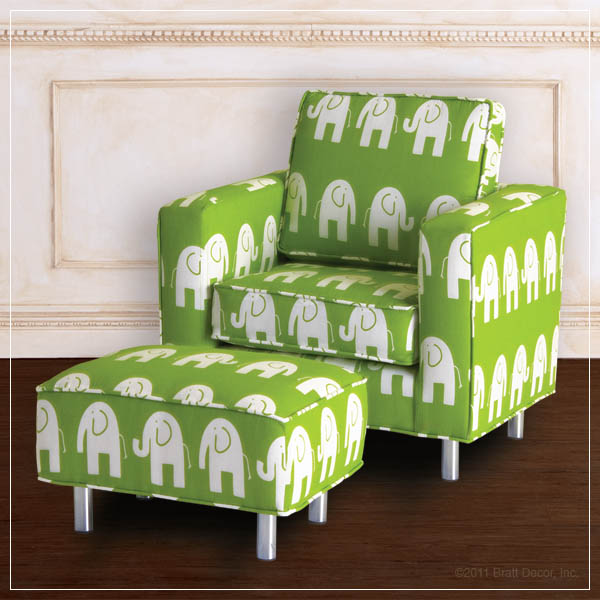 mod elephant child chair and ottoman
