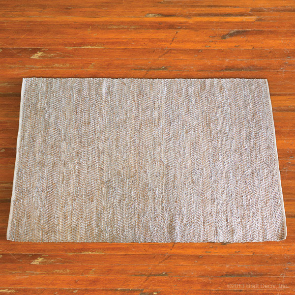 metallic and hemp rug