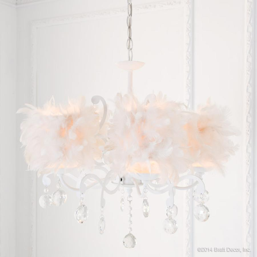 couture feathered chandelier