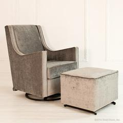 studded brilliance glider and ottoman